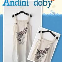 DASTER ANDINI DOBY / OUTER / DRESS / ETNIC / KLASIK / KREM / BATIK / DASTER CANTIK