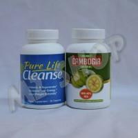 Paket 1 Set Pure Cambogia Ultra + Pure Life Cleanse Original USA