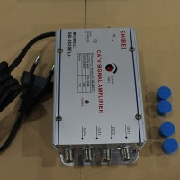 Penguat Sinyal TV 4 Splitter 20dB, 1 untuk 4 TV Merk SHIBEI