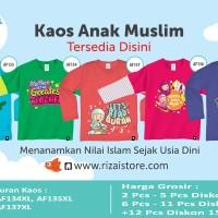 Kaos Anak Muslim Afrakids Lengan Panjang Ukuran XL (AF128 s/d AF152)