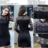 Black Lace mix cheongsam dress S,M,L -20700