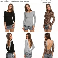 low back casual top (black,gray,leopard)S,M,L - 21270
