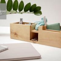 Wood Pen Holder GERTRUDE Tempat Pensil Kayu desktop storage Stationery