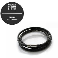 Gelang Pria (Mens Bracelet 3 Laps) Leather