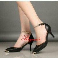 harga High Heels  Wedges  Pantofel Black Gelang Gp 06 Tokopedia.com