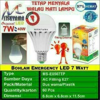 harga Lampu Sentuh / Bohlam Led Emergency Mitsuyama 7 Watt Tokopedia.com