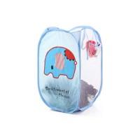 Keranjang Baju Kotor Cucian Lipat - Laundry Bag - Tempat Baju - Biru