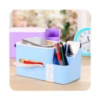 Kotak Tisu Serbaguna - Tempat Pencil Pen Serbaguna - Hiasan Meja Biru