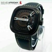 jam tangan pria sevenfriday M2M LEATHET BLACK