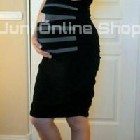 harga Baju Hamil Unik Dress Maternity  BP1 Hitam Tokopedia.com