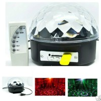 MP3 Player Crystal Magic Ball Sound Activated LED Disco Lamp