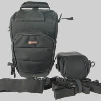 QUARZEL Tas Kamera. Camera Zoom Bag with Flash Pouch.