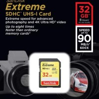 SanDisk SDHC Extreme 32GB Class 10 U3 / UHS-I 90MB / S
