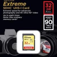 SanDisk SDHC Extreme 32GB Class 10 U3 / UHS-I 90MB / S