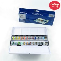 Winsor&Newton Cotman 24 Colours Half Pans:: Watercolour