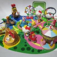 Hello Kitty Dufan Playground Set Figure
