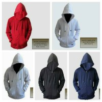harga Jaket Zipper Polos Merah Putih Abu Hitam Navy Best Tokopedia.com