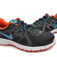 Sepatu running nike revolution 2 MSL hitam orange original asli murah