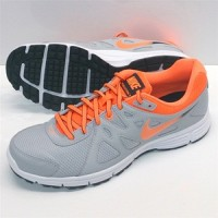 Sepatu running nike revolution 2 MSL grey orange original asli murah