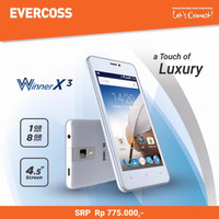Evercoss A65B Winner X3 -Quad Core 1.3 GHz, 4.5