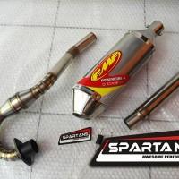 Knalpot KLX 150 FMF Powercore 4 Stainless Steel WithPowerBomb