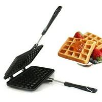 harga Double Waffle Pan / Belgium Waffle Maker Tokopedia.com