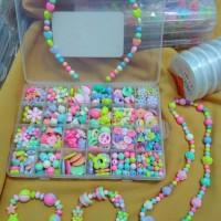 Jual Mainan edukasi meronce / manik manik / beads / merangkai kalung Murah