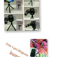 Lensa Telezoom 8x + tripod Free 1 pcs Ringcase bumper