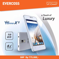 Evercoss A65b Winner X3 -quad Core, 4.5