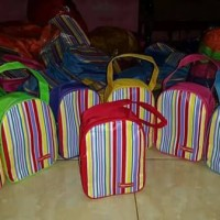 stripes pouch