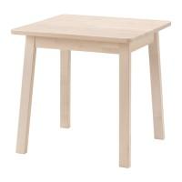 IKEA NORRAKER Meja Makan 74x74 Cm, Putih Kayu Birch