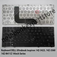 Keyboard DELL Ultrabook Inspiron 14Z-5423, 14Z-3360 14Z-N411Z Black