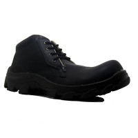 Cut Engineer Iron Safety Boots Loafers Leather NEW SOLE