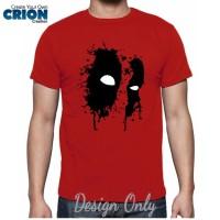 Jual Kaos Deadpool - Deadpool Eyes Splash Effect - By Crion Murah