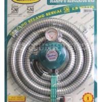 Regulator Kompor Gas Set + Meter Merk QUANTUM