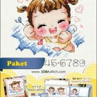 Paket Kristik / Cross Stitch SO-4118 Angel and Evil (Girl)