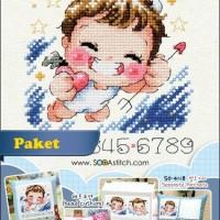 Paket Kristik / Cross Stitch SO-4117 Angel and Evil (Boy)