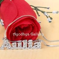 harga Kalung Nama Monel Grafir Permata - Perhiasan Nama Custom Tokopedia.com