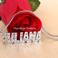 harga Kalung Nama Grafir Full Permata Rantai Titanium - Perhiasan Nama Tokopedia.com