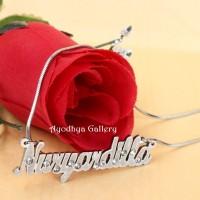 harga Kalung Nama Grafir Permata Rantai Titanium - Perhiasan Nama Custom Tokopedia.com