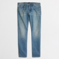 CELANA J.CREW DENIM THE SUTTON SELVEDGE JEANS - LIGHT WASH SELVAGE