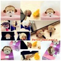 harga Cute Monkey  Jewelry Pluggy - Ear Plug - Dust Plug Tokopedia.com