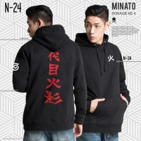 N-24   Jaket Hoodie Anime Naruto - Minato Hokage 4