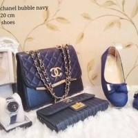 chanel bubble navy tas set 4in1 tas lokal tas wanita murah