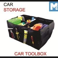 Car Toolbox Tool Storage Car Trunk Storage Organizer Mobil di Bagasi