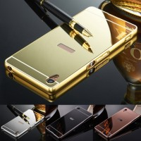 Sony XPeria z1 Mirror Metal Bumper Back Cover Case