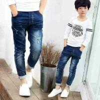 Jeans Anak Belel Hitam Biru Panjang | Jeans Korea