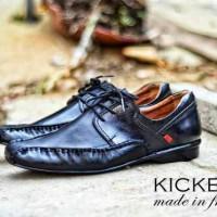 harga Sepatu Pantofel Kulit Premium Hitam Kickers #kp062 Tokopedia.com