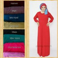 gamis murah/gamis jersey/baju muslim/manset gamis/ dress murah