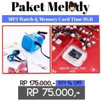 PAKET MELODY (MP3 Watch + Memory 8GB)